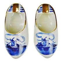 Delfts Blauw Holland Porcelain Hand Painted Shoe Ashtrays - A Pair  - $135.00