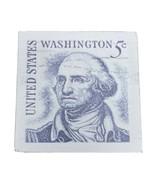 P. Graham George Washington Stamp White 5.5 x 5.5 Solid Wood Barnhouse B... - $16.82