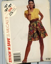 Stitch N Save 5278 Misses Top and Culottes 16 cut - $5.50