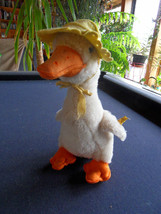 Steiff duck goose  EAN 4908/25 button flag stuffed animal  made in  Germany 543 - $73.88