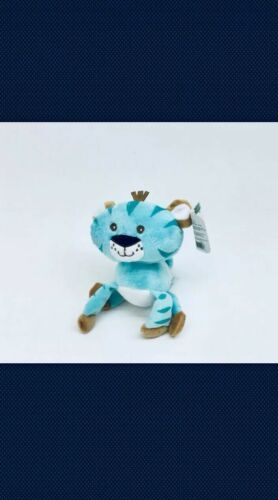 NEW Fisher Price Plush Tiger Tigre Animals of the Rainforest Blue Stuffed Cat 7""