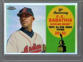 2008 TOPPS CHROME ALL STAR ROOKIE TEAM REFRACTOR C.C. SABATHIA 210/400 I... - $2.99