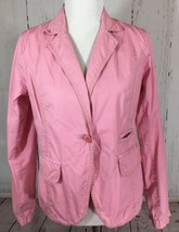 J Crew Size 8 Pink Broken In Chino Cotton Twill Jacket Blazer - $19.42
