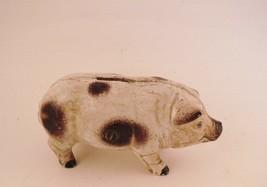 """Vintage Cast Iron Piggy Hog Coin Bank 6"""" Long Department 56 - $28.47"""