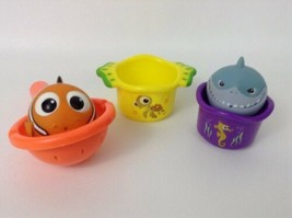 Disney Finding Nemo Figures The First Years Water Bath Toys Lot 5pc Baby... - $11.83
