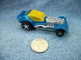 McDonald's Hot Wheels Mattel 2008 Blue Race Car Plastic - $1.56