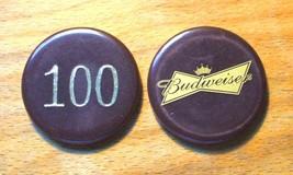 (1) Vintage $100. Budweiser Poker Chip - Bow Tie Chip - $8.95