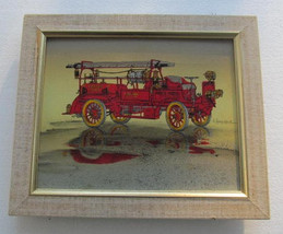 "Serigraph Painting By H. Hargrove  Titled  ""Fire Engine"" Hand Signed, Co... - $129.99"