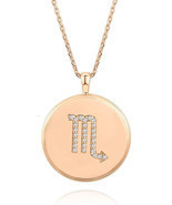 PAVOI 14K Rose Gold Plated Astrology Coin Constellation Necklace | Daint... - $44.95