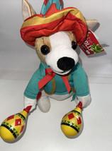 "Animated Singing ""La Bamba"" Plush Chihuahua w/ Shaking Maracas & Sombrer... - $24.75"