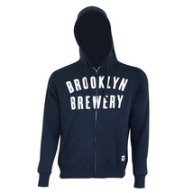 Brooklyn Brewery Zip Up Hoodie Blue - $55.98+
