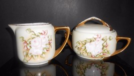 Rosenthal Donatello Wild Rose 1922 Green Mark Creamer & Sugar Bowl With Lid - $19.00