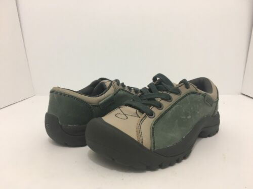 Keen Briggs Green Tan Leather Women's Lace Up Comfort Walking Shoes Size 5 M image 3