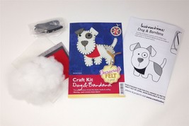 Create Your Own Felt Character Craft Kit Dog And Bandana - $8.81