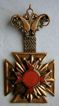 Fraternal Medal with Red Enameled Cross - $22.50