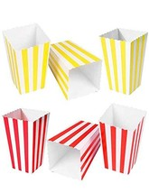 HansGo Popcorn Boxes, 24PCS Striped Paper Popcorn Boxes Cardboard Candy ... - $7.11