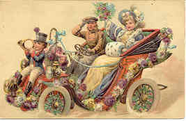 Ringing in The New Year Finkenrath vintage 1911 Post Card - $8.00