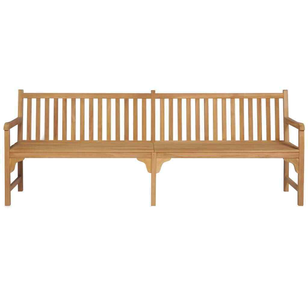 vidaXL Solid Teak Outdoor Bench w/ Finish 3-seater Garden Chair Patio 2 Sizes image 9