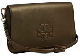 NWT TORY BURCH Thea Foldover Crossbody Clutch Bag, Bronze - $288.15