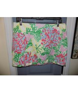 Lilly Pulitzer Callie Skirt Pink Green Mariposa Floral Size 6 Women's  M... - $34.02
