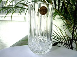 "Cristal D'Arques Longchamp Clear Crystal 12 Ounce Flat Tumbler 5 5/8"" Tall - $8.91"