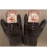 Childrens hand knit mittens 1 thumbtall