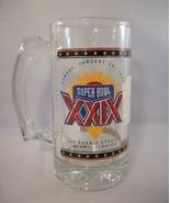 SUPER BOWL XXIX 1995 JOE ROBBIE STADIUM GLASS MUG - BRAND NEW with STICKER! - £4.24 GBP