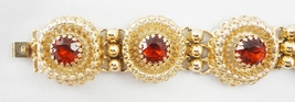 Napier Faux Garnet Bracelet c. 1950s - €42,36 EUR