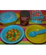 Chicken Noodle Soup Kids Kitchen Food Play Food day care lot Dishes Wine... - $18.80