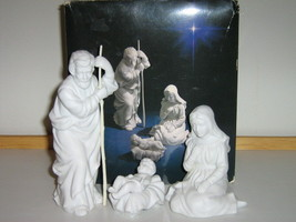 Porcelain Nativity Collectibles - The Holy Family, Avon, 1981, Original Box - $15.00
