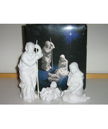 Porcelain Nativity Collectibles - The Holy Family, Avon, 1981, Original Box - $15.00