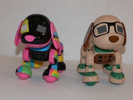 Lot of 2 ZOOMER Zuppies FRIEND Roxy Noble INTERACTIVE ROBOTIC PUPPY DOG ek - $19.99