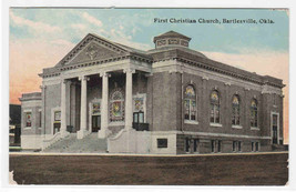 First Christian Church Bartlesville Oklahoma 1910c postcard - $5.94