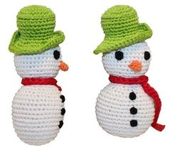Mirage Pet Products 500-008 Holiday Knit Knack Frost The Snowman Organic Dog Toy - $14.99