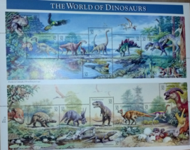 The World of Dinosaurs US postage stamps - $9.60