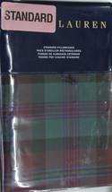 RALPH LAUREN Ardmore PLAID Bohemian Muse BURGUNDY Green 2 STANDARD PILLO... - $55.99