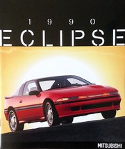 1989/1990 Mitsubishi ECLIPSE brochure catalog 1st Edition US 90 DOHC Turbo - $10.00