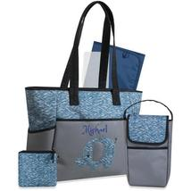 Personalized /Custom 5 in 1 Diaper Bag set W/ Changing pad/Pouch - Blue ... - $44.99