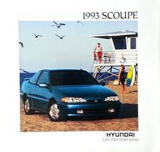 1993 Hyundai SCOUPE sales brochure catalog US 93 LS Turbo - $6.00