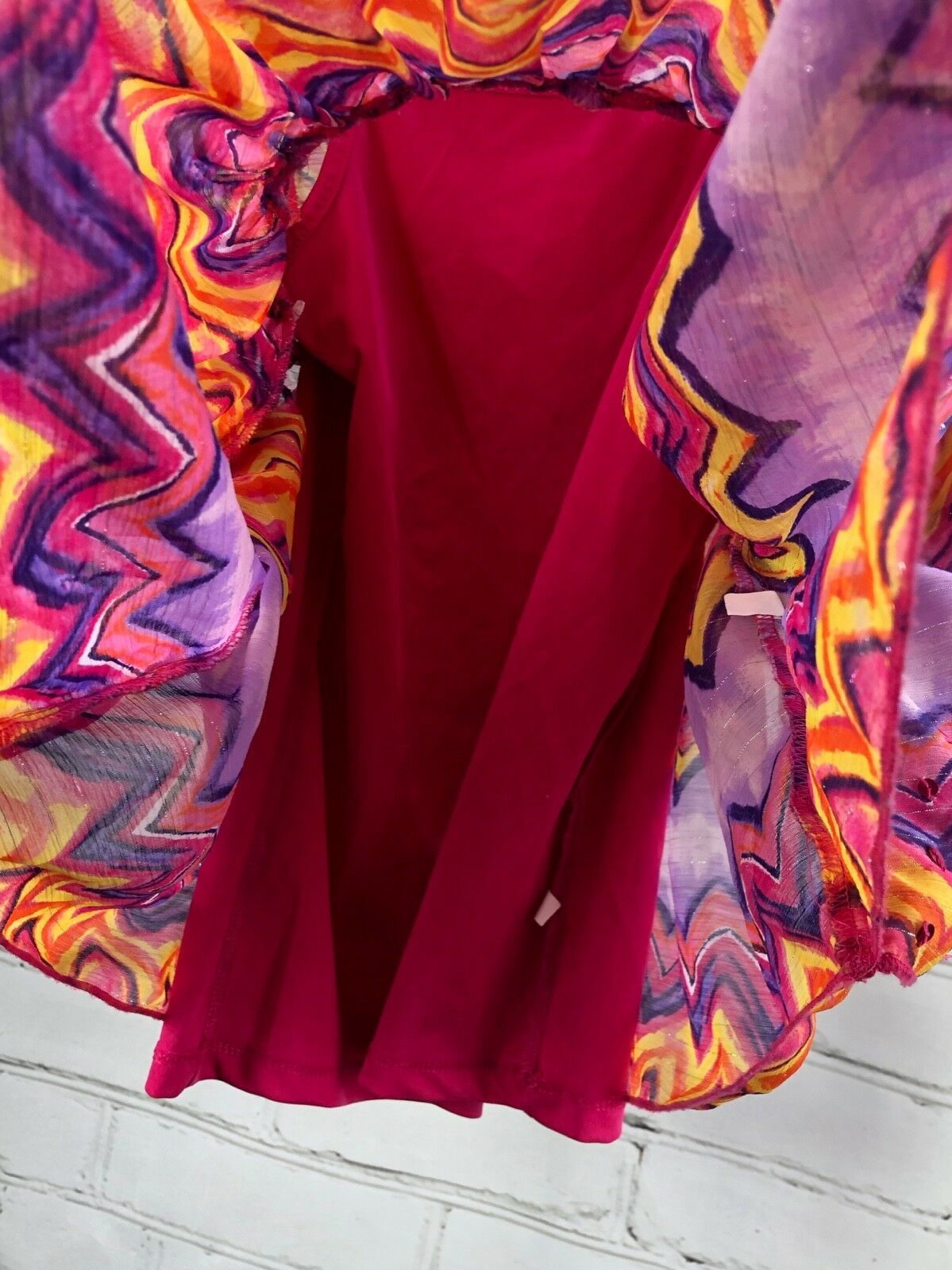 Justice Outfit Set - Boho Flowing Loose Poncho Top + Jean Skirt Skort Sz 10 image 11