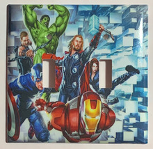 Captain America Iron Man Hulk marvel avengers Switch Wall Cover Plate Home decor image 3