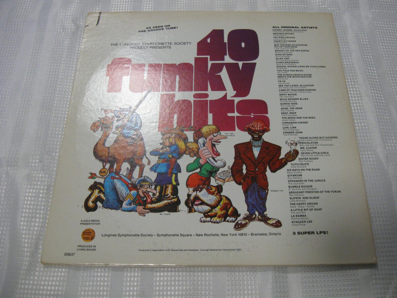 40 Funky Hits Compilation Longines SQ-95837 Stereo 3 LP Vinyl Record Album