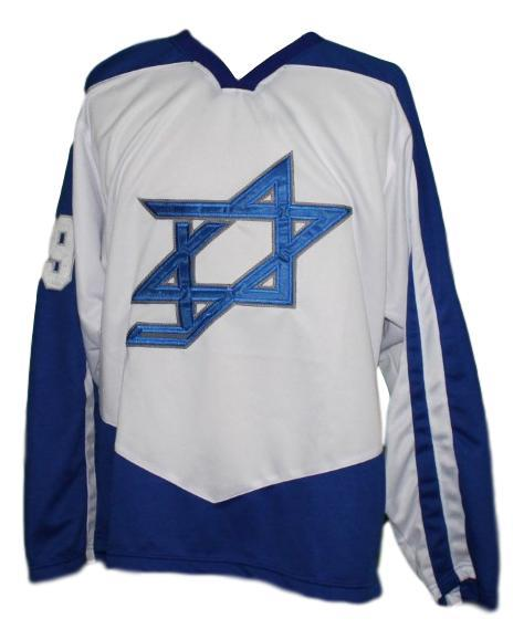 Custom team israel hockey jersey white   1
