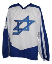 Any Name Number Team Israel Hockey Jersey White Any Size image 1