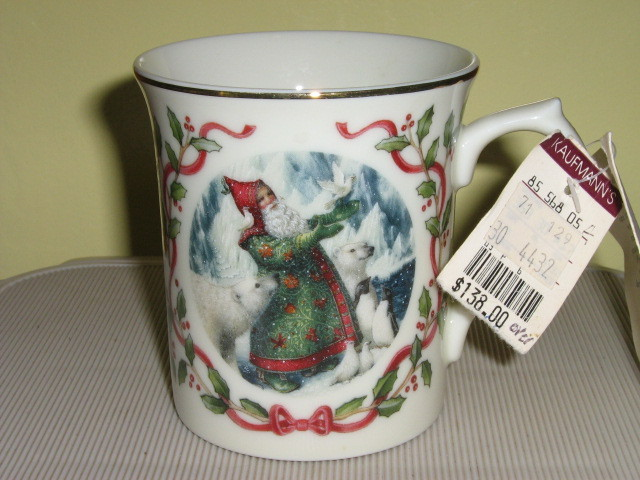 "Lenox ""Magic of Christmas"" Porcelain Mug - ""Santa's Gift of Peace"", 1997"