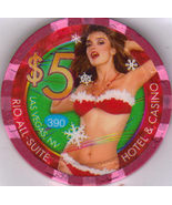 $5 Holiday Girl  Rio Las Vegas Limited Edition Casino Chip - $8.95