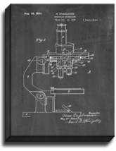 Binocular Microscope Patent Print Chalkboard on Canvas - $39.95+