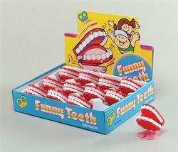 Teeth Aufziehen Mini Klappern, Spaß Neuheit Scherz Stütze, Kostüm - $1.20