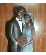 Black Americana African American Bride and Groom Figurine - $19.99