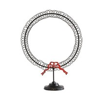 Creative Co-op Round Metal Wreath Shaped Card Holder with Red Bow - $32.11